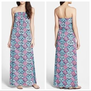 Lilly Pulitzer Marlisa Cotton Strapless Maxi Dress
